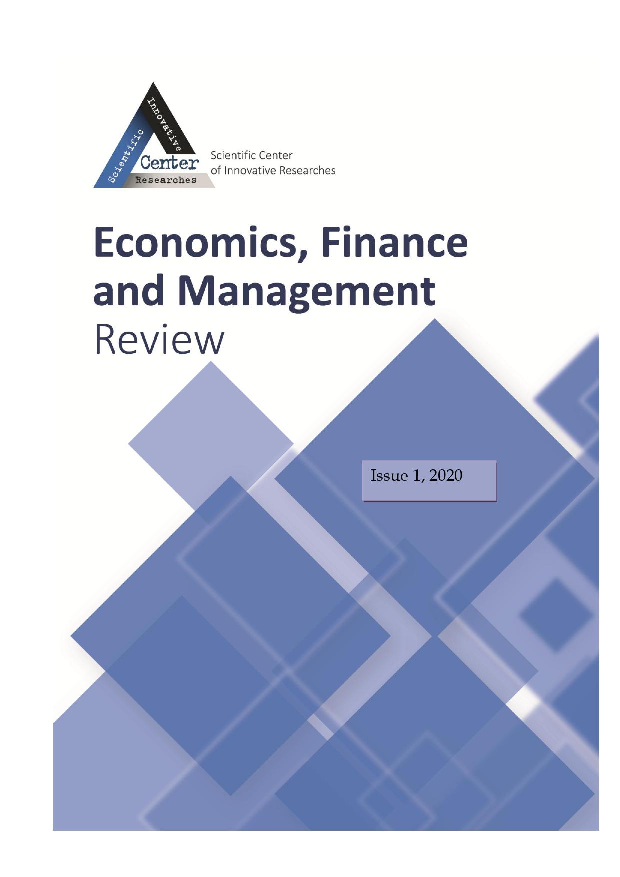 View No. 1 (2020): Economics, Finance And Management Review